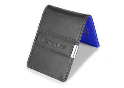 Charcoal & Dark Blue Slim Money Clip w/ RFID - Articulate
