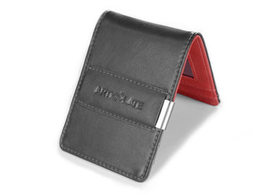 Charcoal & Red Slim Money Clip w/ RFID - Articulate