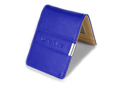 Dark Blue & Beige Slim Money Clip w/ RFID