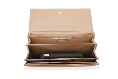Beige/Nude Clutch  (3 Straps Included) - Articulate