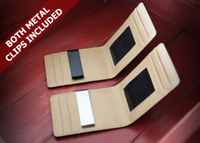 Black & Beige Slim Money Clip w/ RFID - Articulate