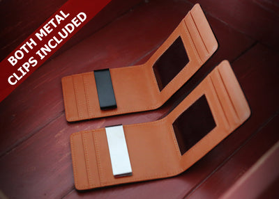All Brown Slim Money Clip w/ RFID - Articulate