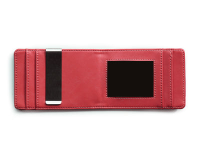 Black & Red Slim Money Clip w/ RFID - Articulate