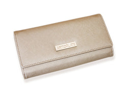 Metallic Beige Clutch (3 Straps Included)