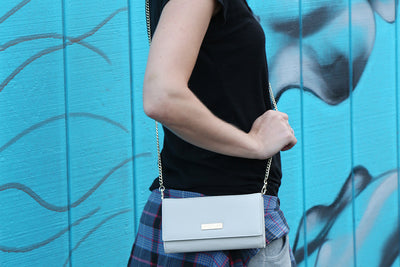 Silver/Sand Clutch (3 Straps Included) - Articulate