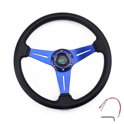 Racing Sport Steering Wheel Universal 13 inches 340MM Aluminum+PU Racing Drift Steering Wheel Auto Accessorie
