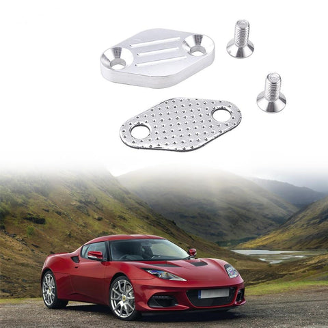 LS LQ4 EGR Tube Exhaust Manifold Block OFF Plate Kit LSX 4.8L 5.3L 6.0L EGR Tube delete plate forTruck exhaust manifolds