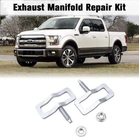Exhaust Manifold Repair Kit High Quality Metal Exhaust Stud Clamp Kit Replacement Kit for Ford Truck Hush studfix