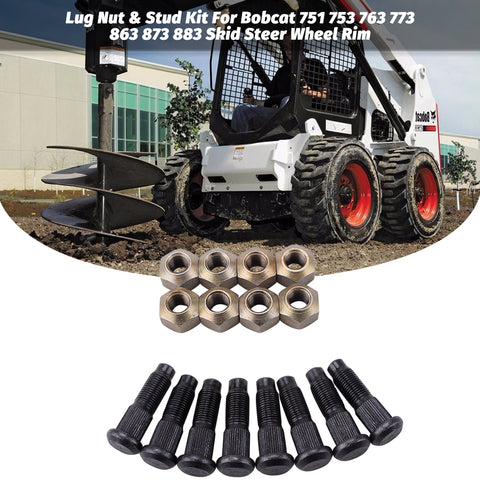 Bobcat Lug Nut & Stud Kit for S100, S130, S150, S160, S175, S185, S205 -Skid Steer Wheel