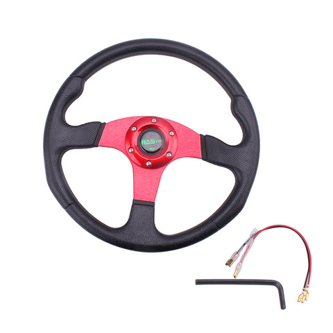 Car Sport Steering Wheel Racing Type High Quality Universal 14 inches 340MM Aluminum+PU
