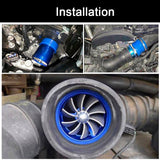 Racing Car Double Dual Turbo Air Intake Turbine Gas Fuel Saver Fan Car Supercharger Chargers