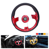 Universal 14 inch PU Auto Racing Steering wheels Drifting Sport Steering Wheel 6 Blots