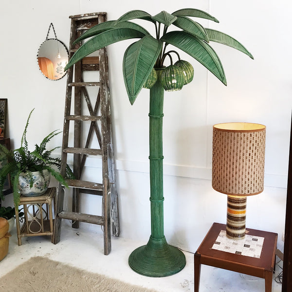 Mario Lopez Torres Palm Tree Floor Lamp / Jade Green