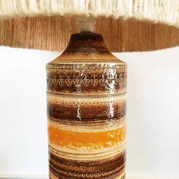 Bitossi Ceramiche Lamp with Woollen Drum Shade