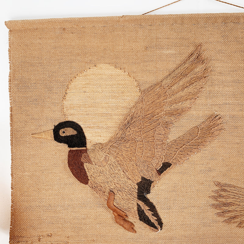 Flying Ducks Meher Jute Wall Hanging