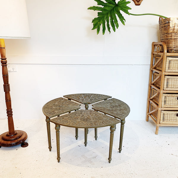 Stackable Pressed Metal Garden Table