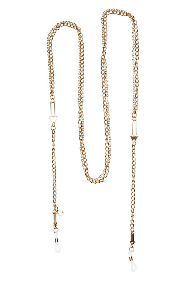 Karen Walker Eyewear Arrow Double Eyewear Chain / Gold