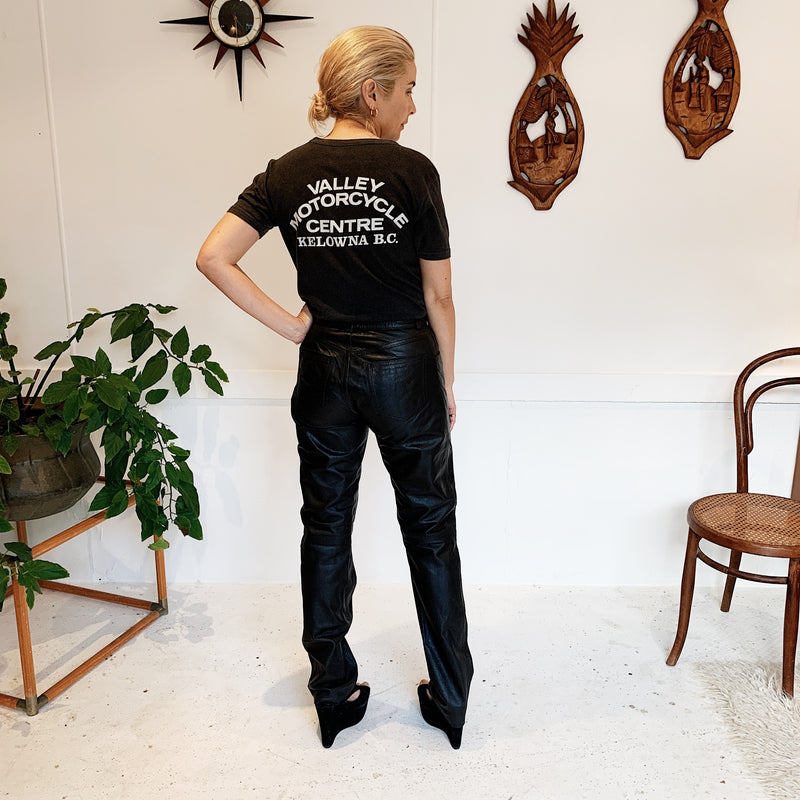 Vintage 70s Merivale X Bisonte Straight Leg Leather Pants