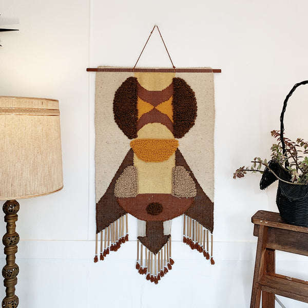 Mid-Century Modern Handwoven Wall Hanging