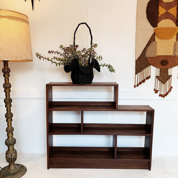 Mid-Century Three Tier Wooden Bookshelf