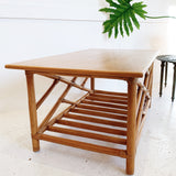 Rattan Coffee Table By Y.M. Jack & Co