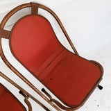 Pair of Red Delicious Sebel Stak-A-Bye Garden Chairs