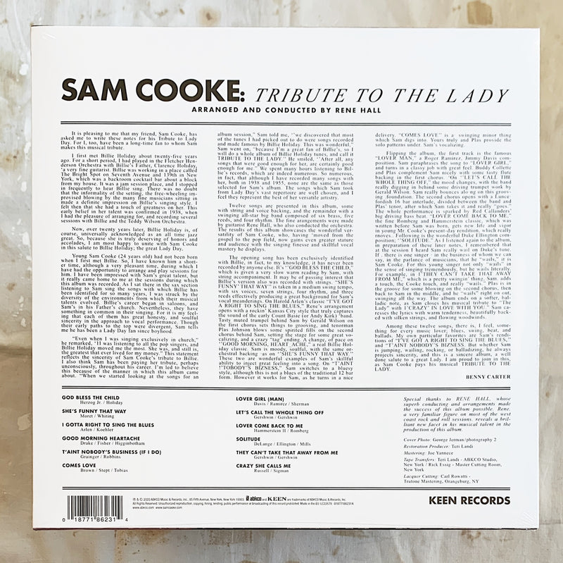 Sam Cooke / Tribute To The Lady LP