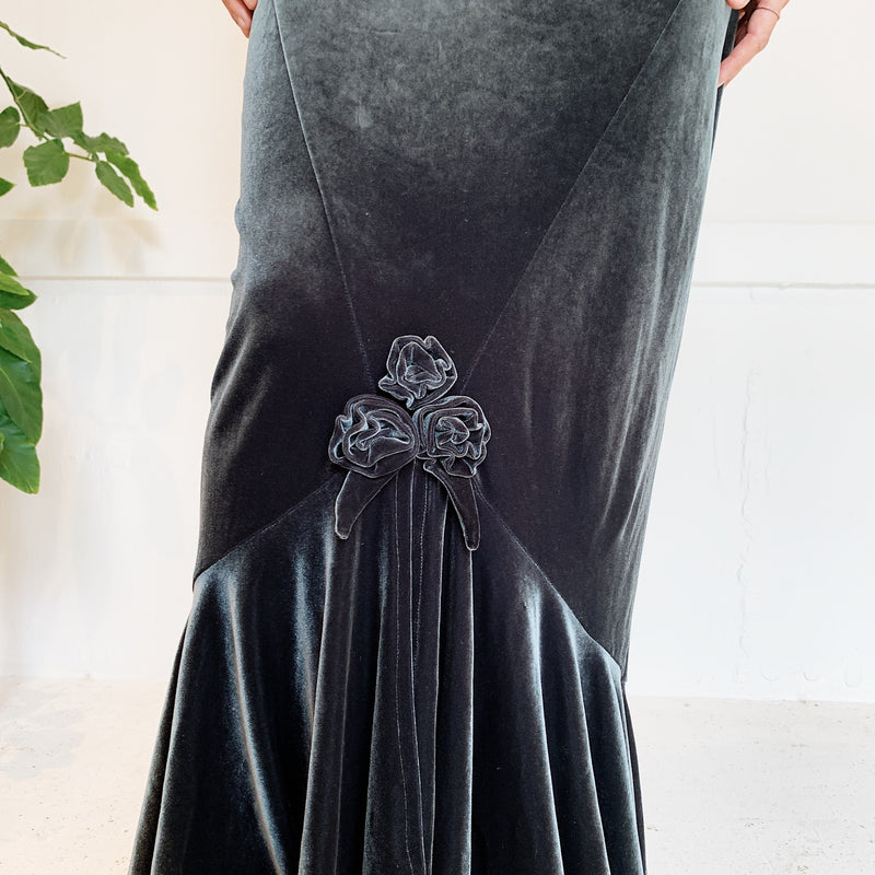 Vintage Velvet Strapless Cocktail Dress