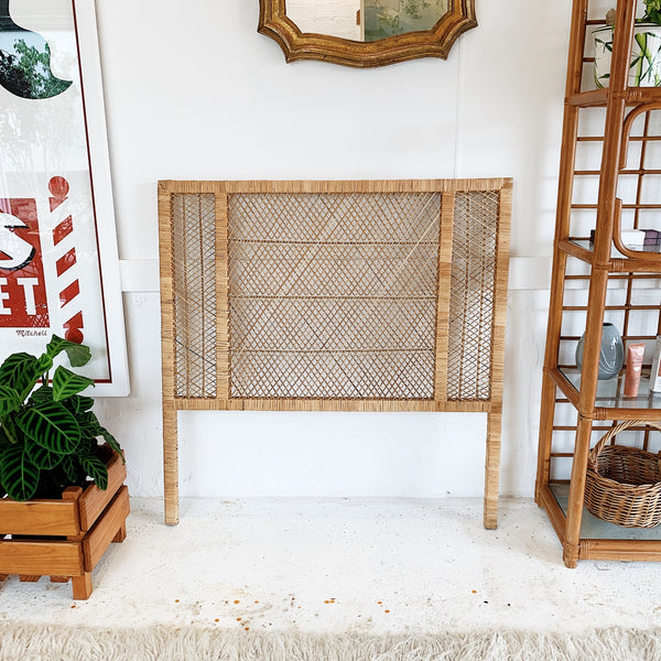 Vintage Cane Bed Head / Single Bed