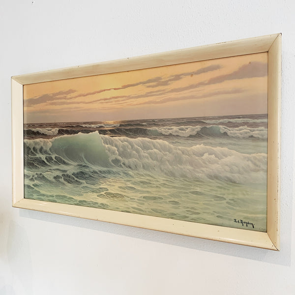"Vintage Edouard Mandon ""Tumbling Waves"" Print"
