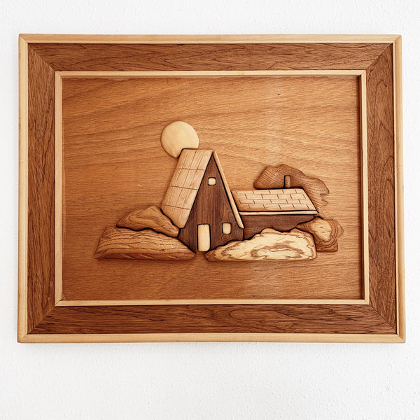 Vintage Handmade Scandi Style Wooden Country House Scene