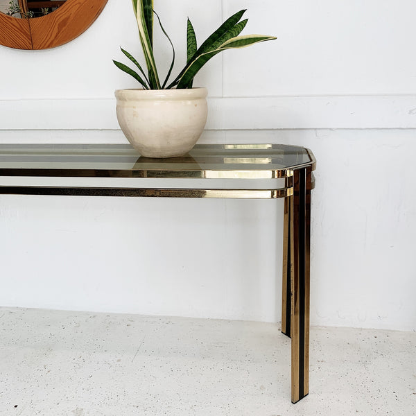 Vintage Italian Plated Console Table