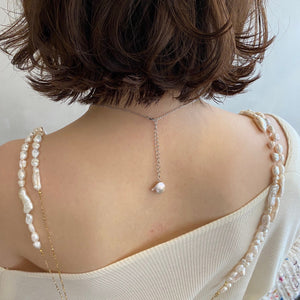【she and sea.】dripping pearl necklace