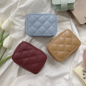 【Claire】real leather zipper multi case