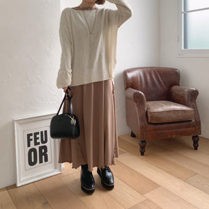 【Isn't She?】mellow point flare one-piece (2570E)