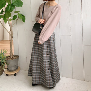 【Isn't She?】volume sleeve knit (4989C)