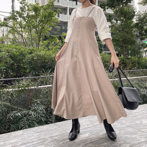 【Isn't She?】flare jumper skirt (2571E)