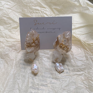 【sucré】natural shell pierce / earring