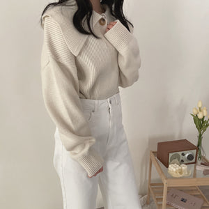 big collar knit