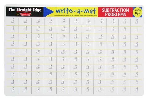 Melissa and Doug subtraction learning mat