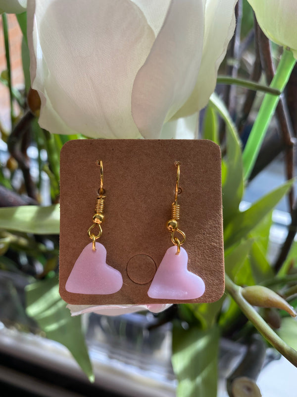 By Roxana Aubrey Rose Quartz Heart Earrings