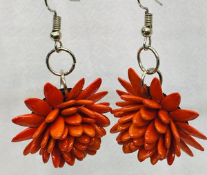 Cantaloupe Seeds earrings