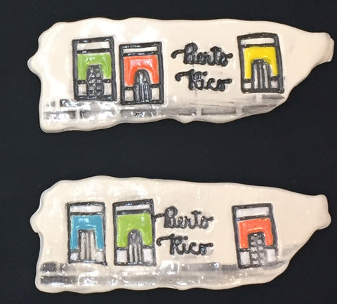 Ceramic magnets map houses