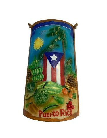 Resin Teja Puerto Rico Flag