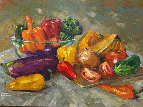 Original painting Vegetables