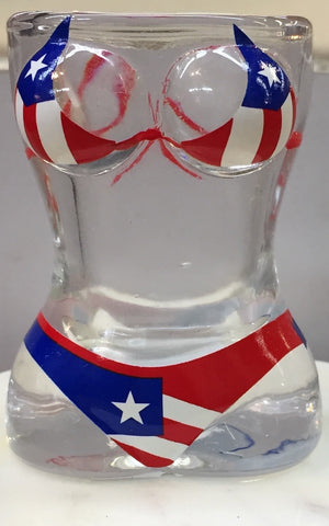 Shot glasses PR Flag bikini set