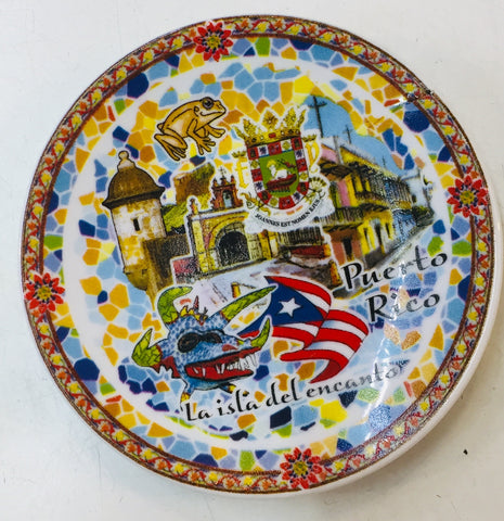 Souvenir plate wall decor vejigante