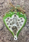 Handmade Ceramic heart Angel