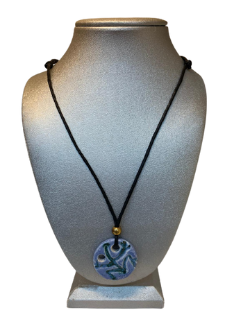 Ceramic coqui necklace round