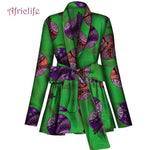 Spring Fall Coat African Clothes for Women Shirt Long Sleeve Top Ankara Print Plus Size Lady Clothes WY4236